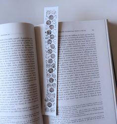 Dotted bookmarks original handmade linocut by TransylvanianTrove