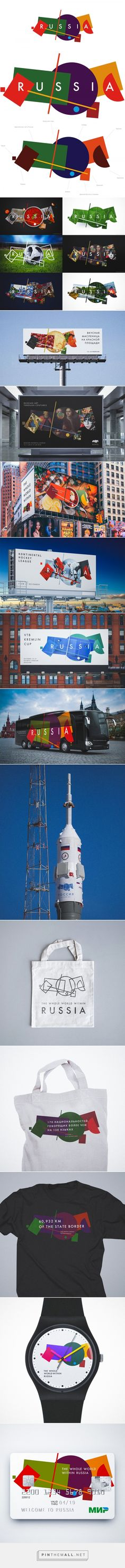 Brand New: New Logo and Identity for Russia Tourism... - a grouped images picture - Pin Them All