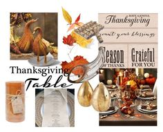 """""""Thanksgiving living"""" by jessicagrabbit ❤ liked on Polyvore featuring interior, interiors, interior design, home, home decor, interior decorating, Sur La Table, Chesapeake Bay Candle, Imm Living and ELK Lighting"""