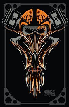 Ideas for bobber motorcycle art posts Harley Davidson, Motorcycle Art, Bike Art, Pinstripe Art, Pinstriping Designs, Totenkopf Tattoos, Garage Art, Kustom Kulture, Airbrush Art
