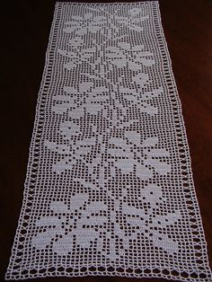 Fine lace crochet runner all handmade Size: 29,5 x14,2 inches ; 75 x 36 cm. Colour: White Material: cotton thread n.12 Conditions: new Every order from my shop will come to you with a little handmade gift. Instructions for care: Hand wash in cool water with a little liquid soap. It should be spread out to dry on a flat surface to dry completely.Block the doily using stainless steel pins and spray corn starch or simply iron with care trying to bring in the shape. Please keep in mind that...