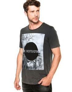 Camiseta Colcci Slim Royaume Cinza
