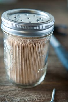 favorite mason jar ideas If this works it would be awesome. I hate trying to get one out and touching all of them!