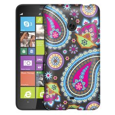 Nokia Lumia 1320 Fun Paisleys on Grey Slim Case