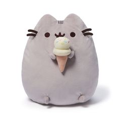 """Pusheen brings brightness and chuckles to millions of followers in her rapidly growing online fan base. This 9.5"""" upright plush version of Pusheen satisfies her sweet tooth with a tasty-looking ice-cr                                                                                                                                                                                 More"""