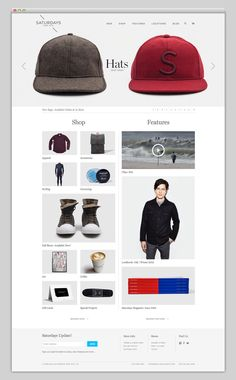 Saturdays NYC E-Commerce Website Landing Page Design: Great Balance of Featured Content + Product Highlights