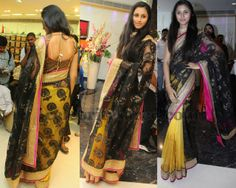 Model in Hyd Boutique Saree | Saree Blouse Patterns
