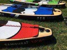 """Nos planches Gonflables disponibles chez natürSUP  - SAMOURAÏ 12'-6"""" x 30"""" x 6"""" - ZEN 10'-6"""" x 32"""" x 6"""" - LOTUS 9'-6"""" x 32"""" x 6"""" Paddle, Lotus, Zen, Floor, Products, Lotus Flower, Lily"""