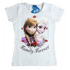 08410994c69d Frost t-shirt hvid til piger med Anna og Elsa kendt fra Disney filmen Frost