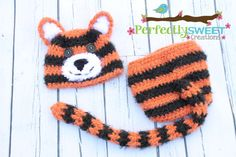 NEW Newborn Tiger Hat & Diaper Cover by PerfectlySweetProps, $45.00