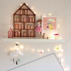 Sonny Angels Limited Edition Series 2 in a little house shelf, via pinterest.com/victoriahalford