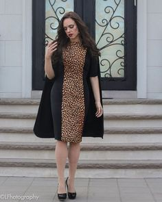 Whether worn with or without its #cape, this #leopard, horse hair dress conveys class and sophistication.  #fashion #style #stylish #love #cute #photooftheday #nails #hair #beauty #beautiful #instafashion #pretty #girly #black #girl #girls #eyes #model #dress #skirt #shoes #heels #styles #outfit #shopping