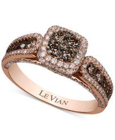 Le Vian Chocolatier Chocolate Quartz 4 ct tw and Diamond Ring
