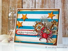 Gorgeous card by Wanda Guess for the Simon Says stamp Blog using Tim Holtz Distress.