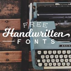 Add unique, authentic character to your work with these free handwritten fonts!