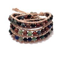"""Armband  """"Chan Luu"""" Stil  mit Edelsteinperlen von Tessie's  Schmuck & Deko auf DaWanda.com"""