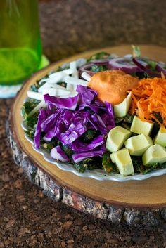 Rawkin' Rainbow Kale Salad Recipe from The Abundance Diet