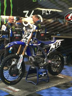 Chad Reed's #22 Yamaha in the pits on race day-Anaheim week 3-SUPERCROSS!!