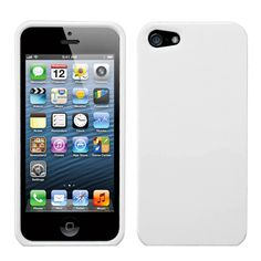 For APPLE iPhone 5 -5G Snap On Hard Case Cover Plain Glossy Natural Ivory White $1.85
