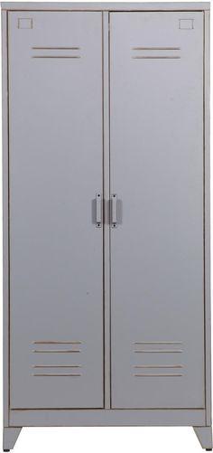 Metalen lockerkast Max 2-deurs - Grijs - Woood