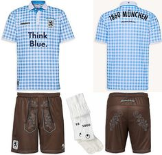 Awesome kit! TSV 1860 Munich celebrate Oktoberfest with lederhosen themed kit [Picture]