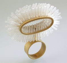 Christel Van der Laan – Cut Price Ring, 2006. Gold plated sterling silver, polypropylene swing tag ends.