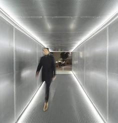 Mini Clubman, Hotel Hallway, Corridor Design, Old Building, Zaha Hadid, Retail Design, Stairways, Modern Architecture, Lighting Design