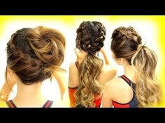 3 Cutest Braided Hairstyles | Mohawk Braid + Messy Bun