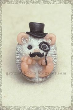 Adorable funny cute hedgehog charm(: