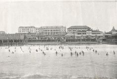 Ocean Beach, Durban. ca. 1920 Kwazulu Natal, Ocean Beach, Good Old, Old Photos, South Africa, Landscape Photography, Southern, African, Live