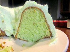 Pistachio Cake...I love pistachio pudding and pistachio ice cream but never had pistachio cake....hmmmm..