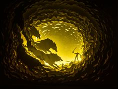 Illuminated Cut Paper Light Boxes by Hari & Deepti - Colossal Found on bloglovin.com