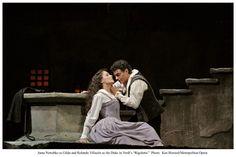 Anna Netrebko and Rolando Villazon in Rigoletto. Set in the 16th century.