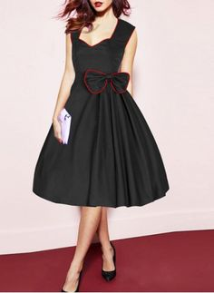 Elegant Sweetheart Neck Sleeveless Bowknot Embellished Ball Gown Dress For Women