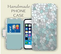 LG Phone wallet case - Aqua Ombre LG G5 , LG G4, LG G3, LG Tribute 5, LG Leon, LG Spirit, LG K10 ,LG K7,