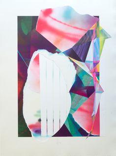 RAPHAEL BORER AND LUKAS OBERER - COLLAGE II - ARTSTÜBLI  http://www.widewalls.ch/artwork/raphael-borer-and-lukas-oberer/collage-ii/ #painting