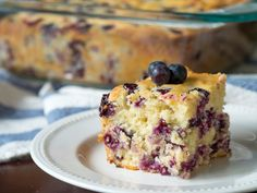 Buttermilk Blueberry Breakfast Bake-want go Try with gluten free flour
