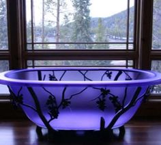 Crystal quartz bath tub google search an amazing luxury for Purple glass bathtub