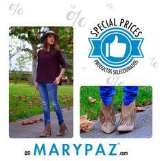 Flecos, eterna tendencia heart emoticon  ¡ Aprovéchate de los SPECIAL PRICES con precios especiales en nuestra Online Store y tiendas físicas MARYPAZ !  #blogger #shoeloverbyMARYPAZ #trendy #moda #tendencia #tipsShoeloverbyMARYPAZ   ► http://trendsgalleryblog.blogspot.com.es/2014/11/botines-de-flecos.html  Shop at ► http://www.marypaz.com/tienda-online/botin-de-tacon-con-flecos.html?sku=70114-42  Shop at ► http://www.marypaz.com/tienda-online/botin-de-tacon-con-flecos.html?sku=70112-42