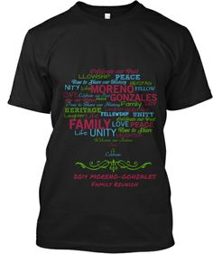 Here is our Family Reunion 2014 tshirt that I designed!! This website helped us raise funds for the reunion itself!! GREAT IDEA!!!