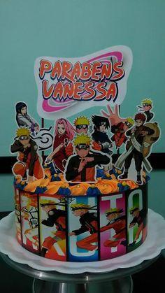 Bolo Do Naruto, Naruto Birthday, Topper, Birthday Cake, Cake Ideas, Desserts, Memes, Chantilly Cream, White Icing