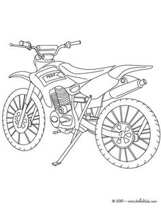 Trail motorcycle coloring sheet