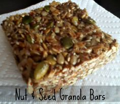 Nut & Seed Granola Bars - super healthy and full of protein!