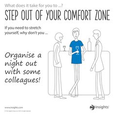 Step out of your comfort zone. Cool Blue colour energy