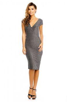 Třpytivé společenksé šaty - stříbrné