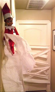 Elf on the shelf.  TP door.