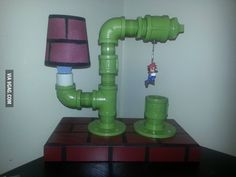 Sweet Mario lamp for the game room