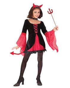 homemade halloween costumes for girls age 10-12 | Teen Girl in Devil Halloween Costume