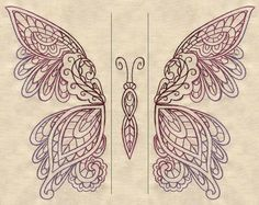 Mendhika Butterfly (Split) | Urban Threads: Unique and Awesome Embroidery Designs Lace pattern use?