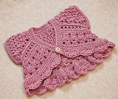Little shrug is must have in any girl's wardrobe. It can be worn with casual outfits or for special occasions. Perfect for flower girls. Works up quickly and is fun to make!